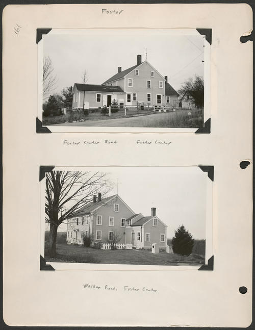 Page 161, Foster Center Road; Walker Road
