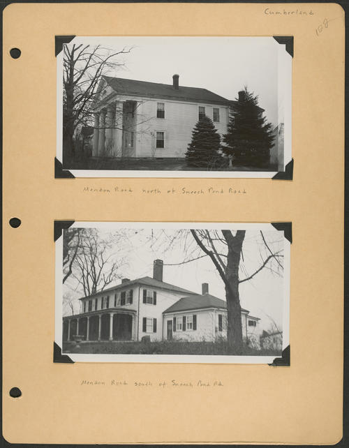 Page 122, Mendon Road; Sneech Pond Road