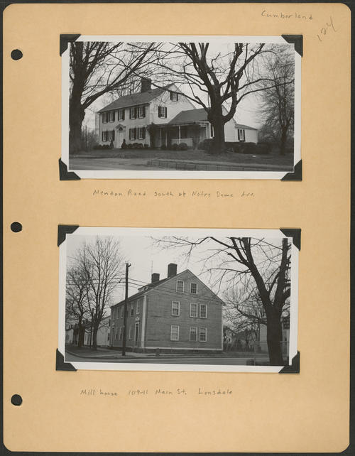 Page 124, Mendon Road; Main Street