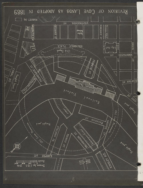Map of Central Part of Providence, Drawn in 1946 for C&D, Providence