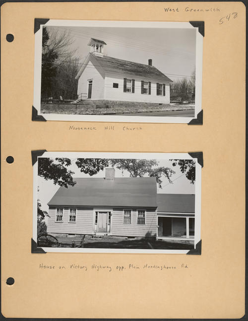 Page 548, Nooseneck Hill Road; Victory Highway; Plain Meetinghouse Road