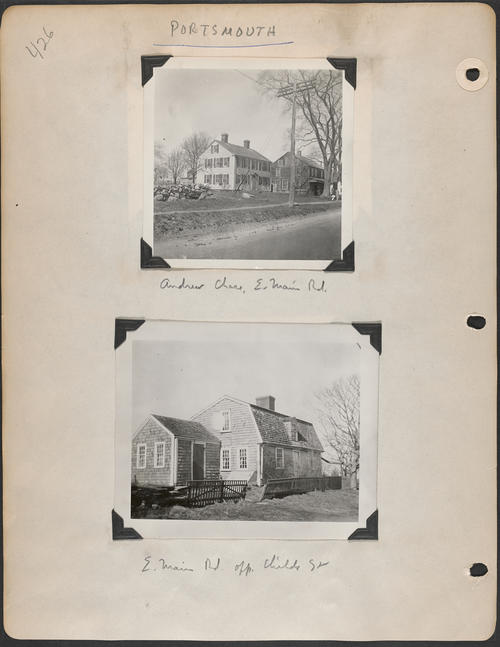 Page 426, East Main Road; Childs Street
