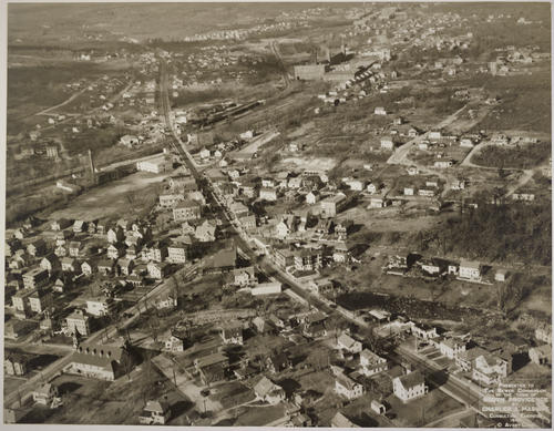 North Providence, 1939 Air view - for Sewer comm.