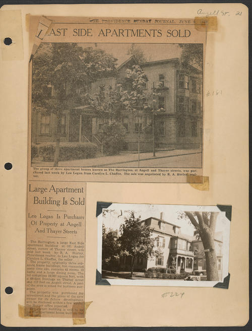 Page 21, Angell Street; Thayer Street