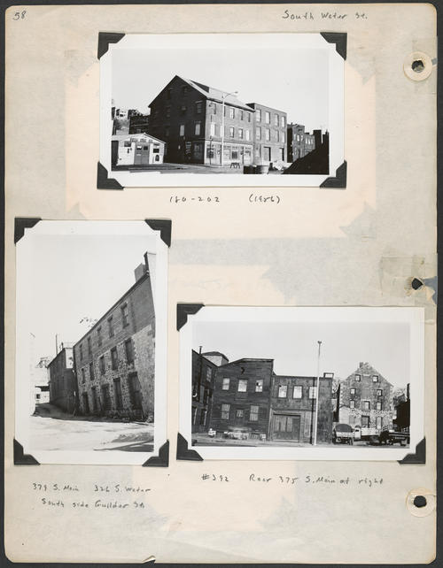 Page 58, South Main Street; South Water Street; Guilder Street