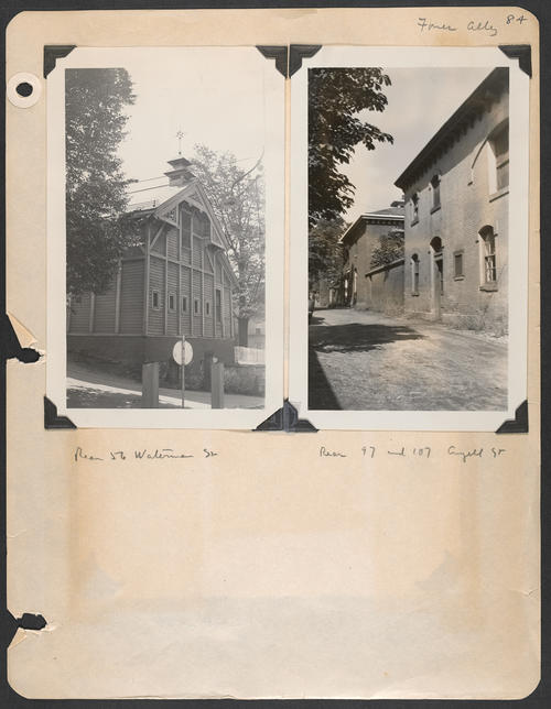 Page 84, Fones Alley; Waterman Street; Angell Street