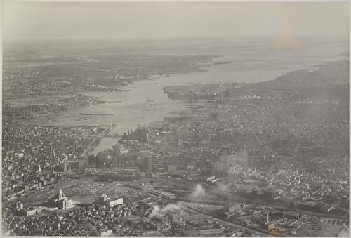 Providence and harbor, looking South, View of