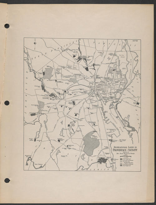 State Planning Board, R.I., Recreational Lands. Providence & Vicinity, 1936,