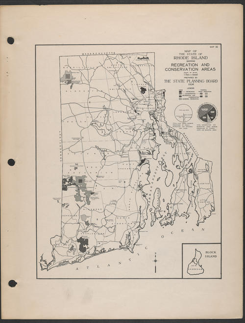 State Planning Board, R.I. Recreation and Conservation Areas, 1936,