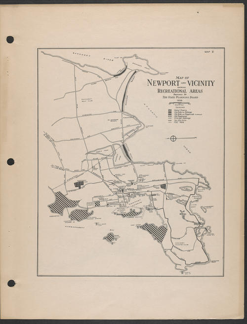 State Planning Board, R.I., Newport & Vicinity, 1936, Newport