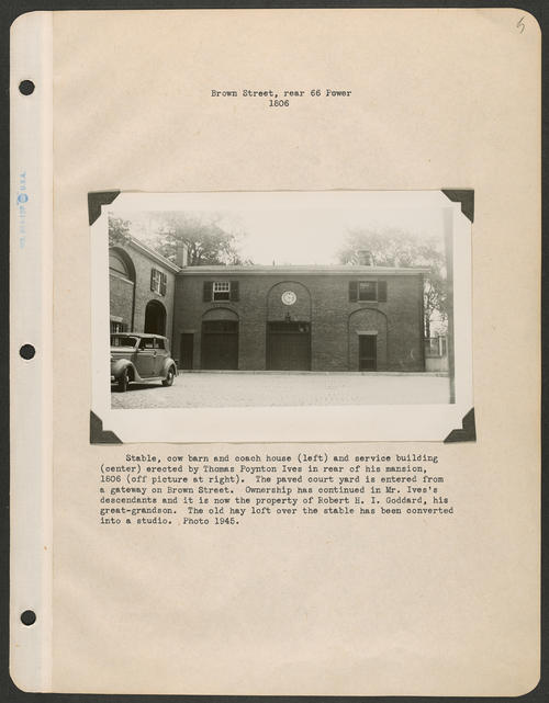 Page 5, Brown Street; Power Street