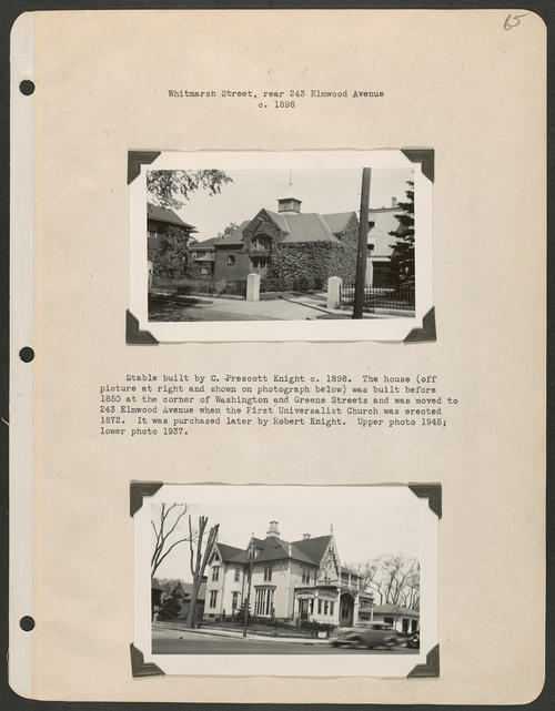 Page 65, Whitmarsh Street; Elmwood Avenue