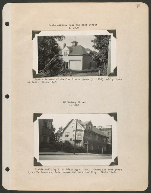 Page 70, Doyle Avenue; Hope Street; Medway Street