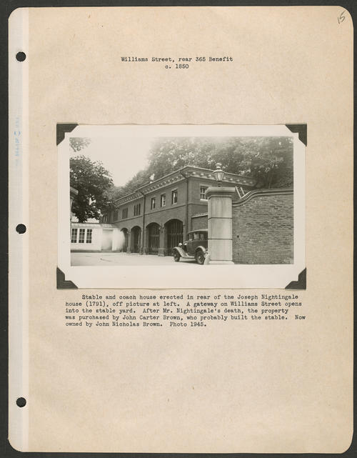 Page 15, Benefit Street; Williams Street