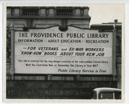 Providence Public Library sign