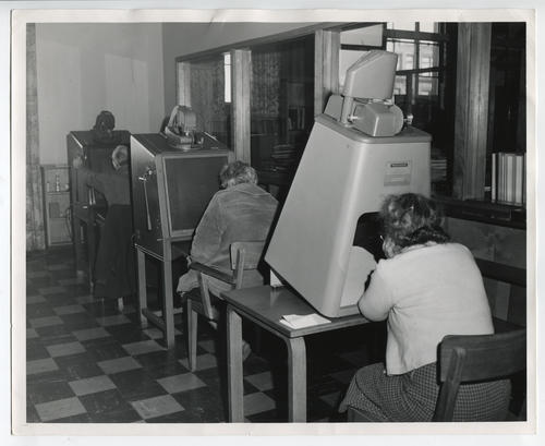 Providence Public Library, microfilm reading room