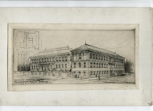 Proposed addition, architect's sketch