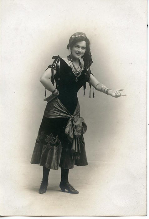 Actress in costume