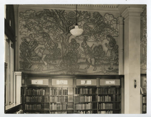 Providence Public Library, Boys and Girls Library, murals