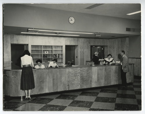 Providence Public Library, circulation desk