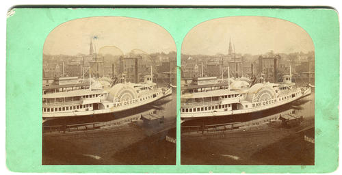 """Bay Queen"" steamboat in Providence harbor"
