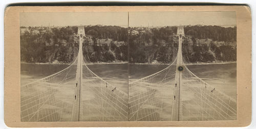 New suspension bridge in Niagara