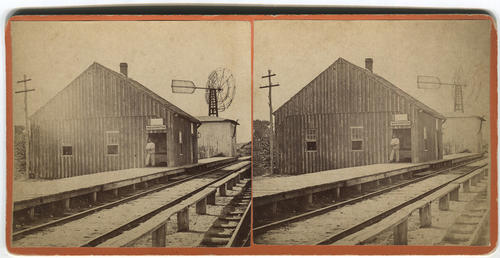Unidentified railroad station, Washington