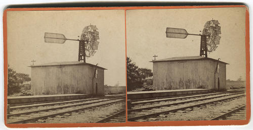 Unidentified railroad track signal