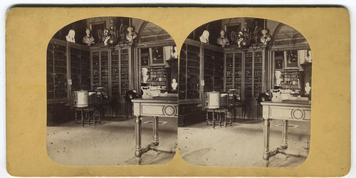 Interior view of Redwood Library and Athenaeum