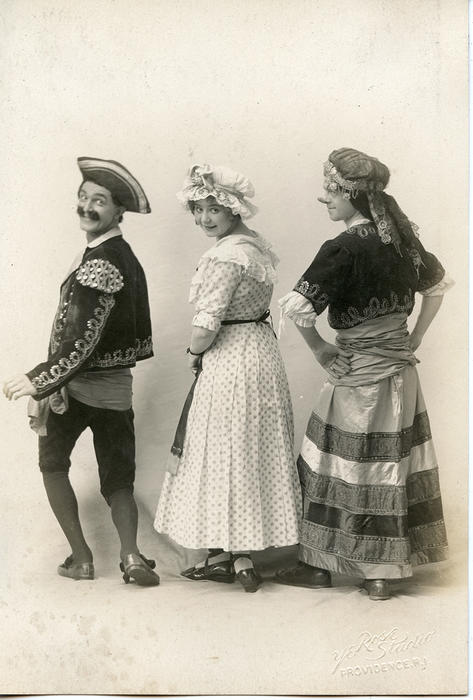 "Actors from ""The Romany Maid"""