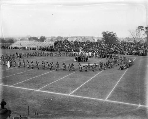 Demonstration on athletic field