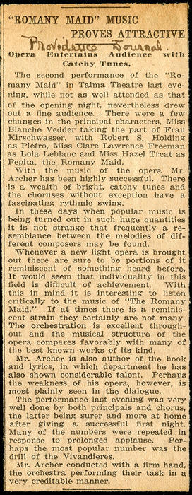 """Romany Maid"" Music Proves Attractive"